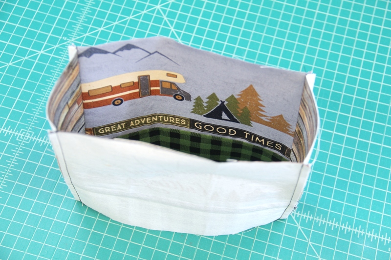 Sew sides of bag