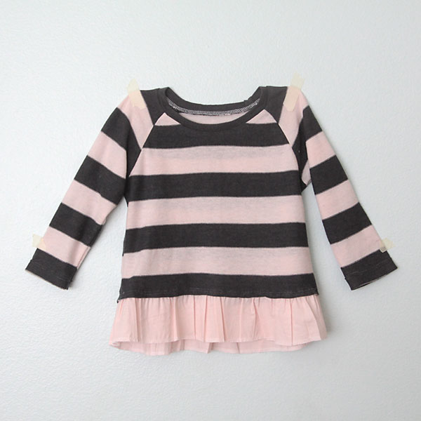 Add Ruffled Hem to Girls Sweater from Its Always Autumn