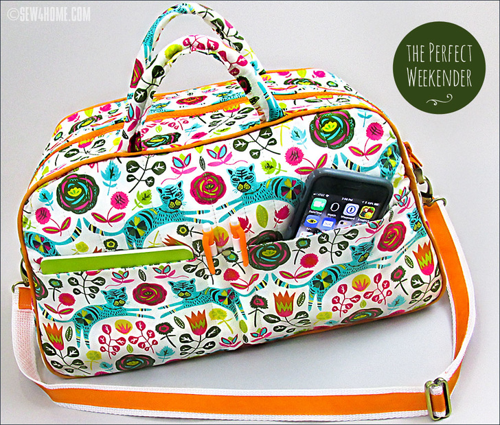 Compact Quilted Duffle Bag from Sew4Home
