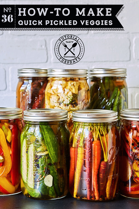 Quick Pickled Veggies from Tasty Yummies