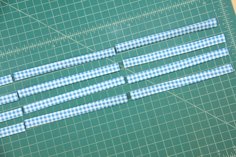 Trimming ties to length