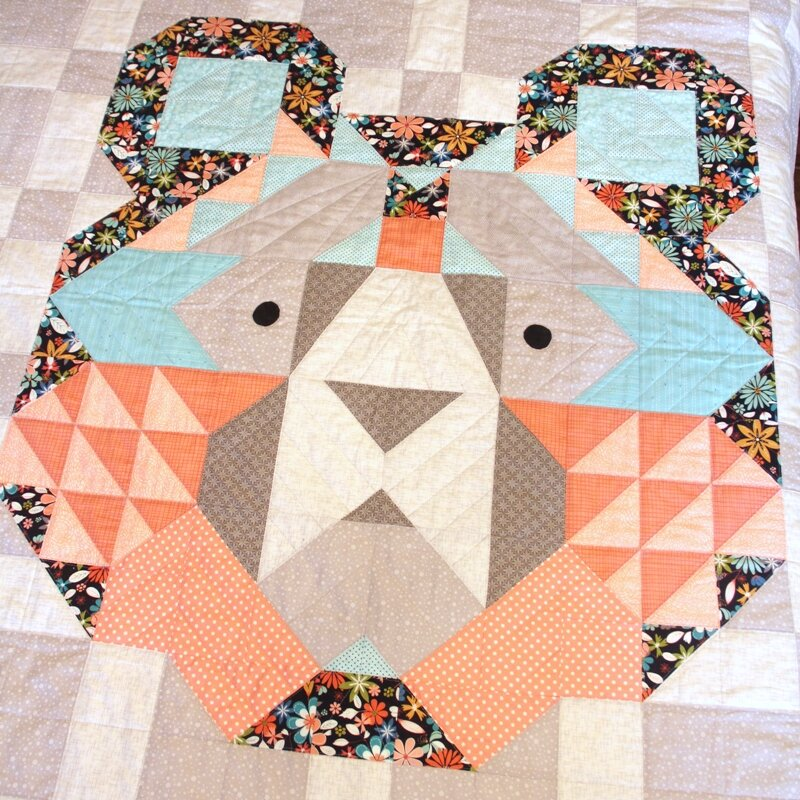 Big Sky Bear Quilt from craftystaci.com