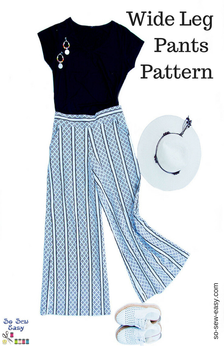 Wide Leg Pants from So Sew Easy