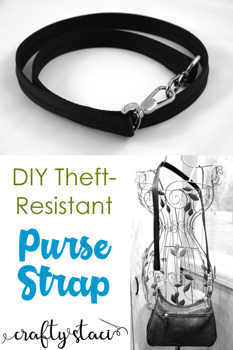 DIY Theft-Resistant Purse Strap from Crafty Staci #bags #purse #pursestrap #bagstrap