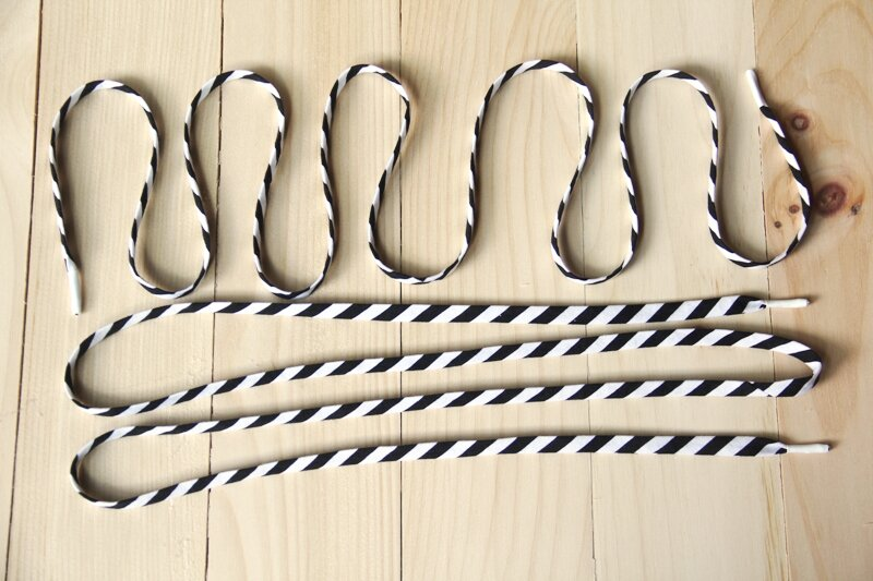 Striped Fabric Shoelaces from Crafty Staci