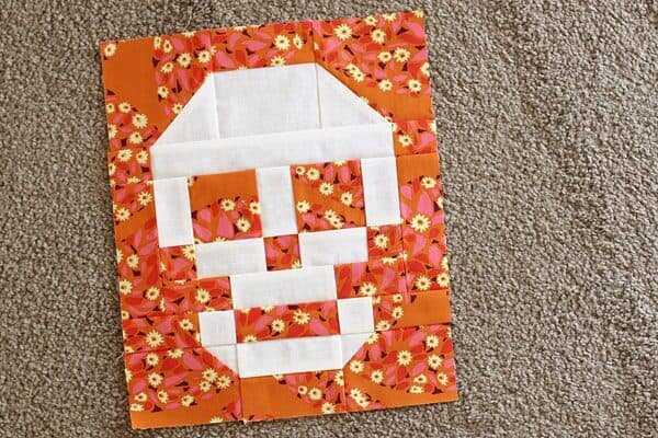 Skull Patchwork Block from Bonjour Quilts