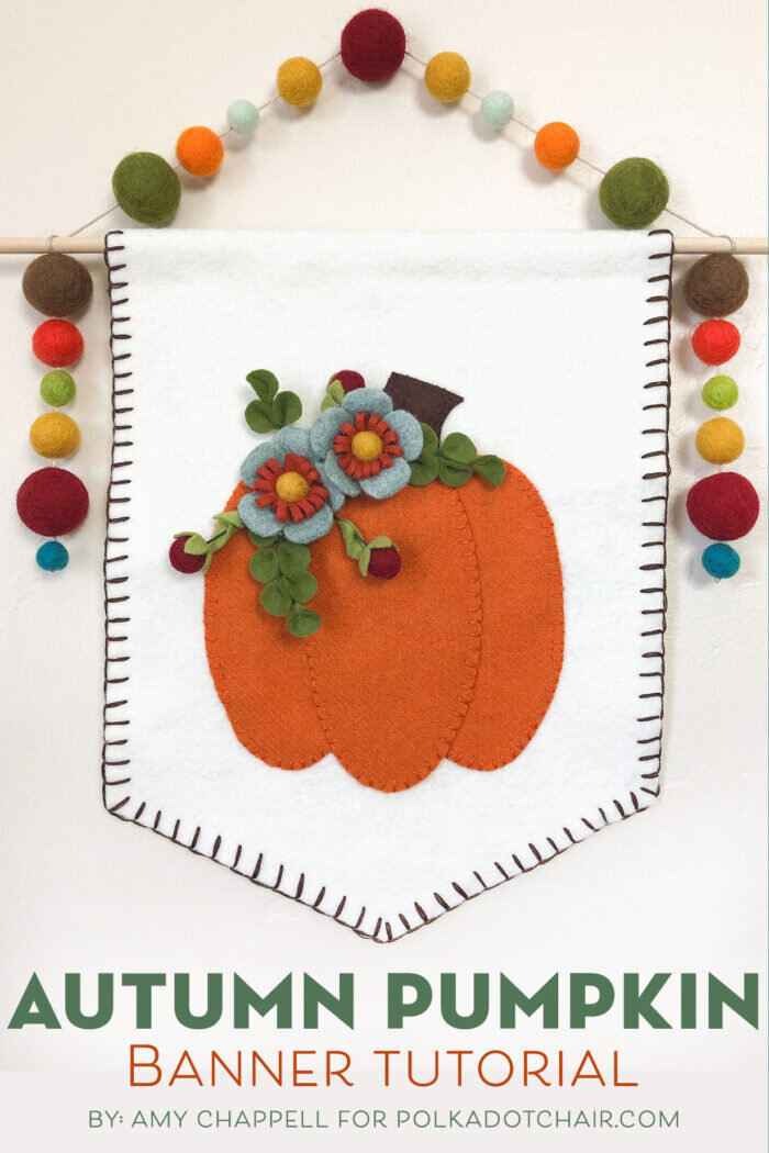 Autumn Pumpkin Wool Felt Banner from Polkadot Chair
