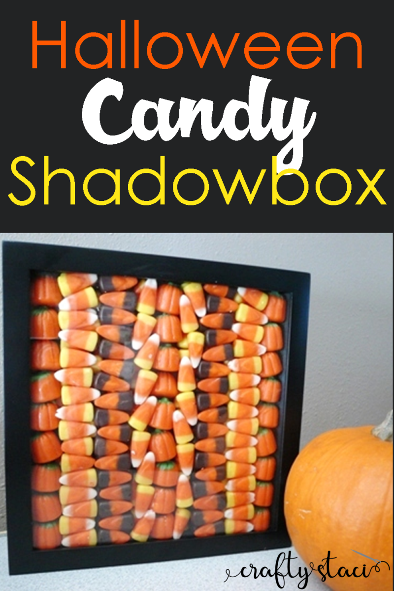 Halloween Candy Shadowbox from Crafty Staci #halloweendecor #halloweencandy