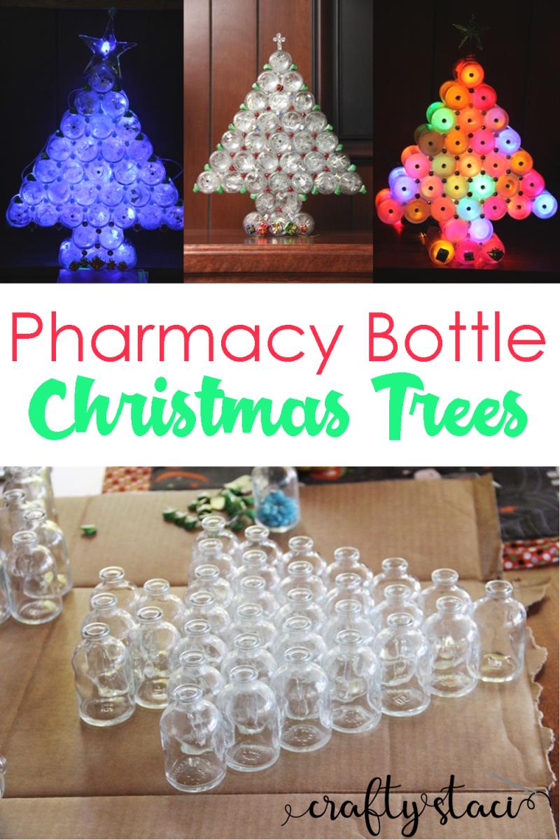 Pharmacy Bottle Christmas Trees