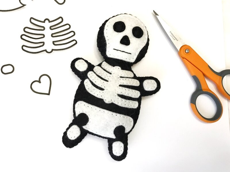 Mini Skeleton Softie from Felt with Love Designs