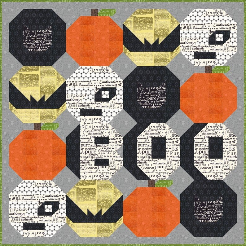 Phat Boo Quilt Pattern from SewFreshQuilts