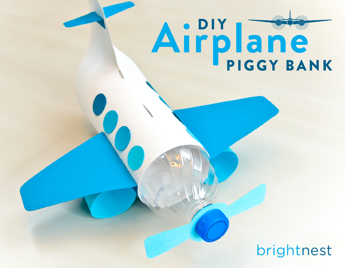 Airplane Piggy Bank from Brightnest