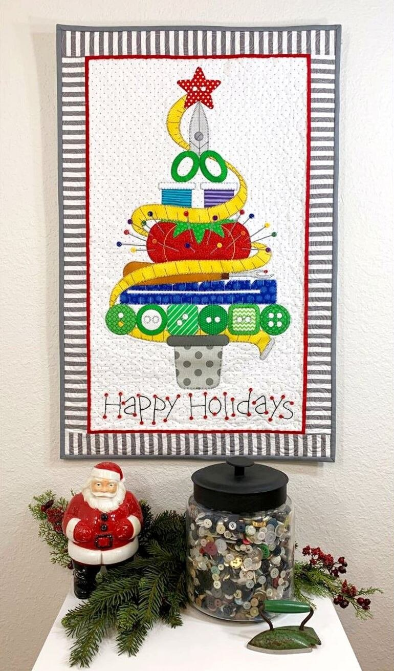 Holiday Sewing Tree Quilt Pattern from AmyBradleyDesigns