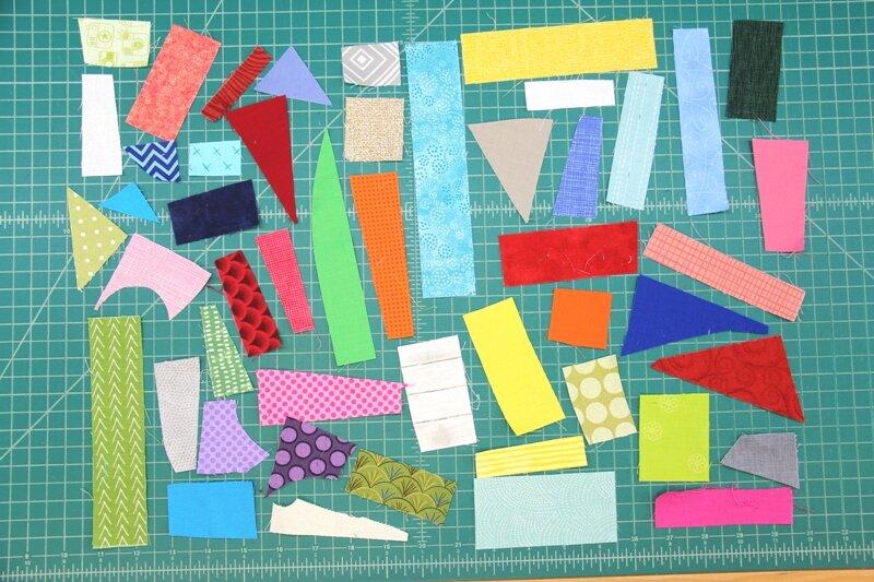 Tiny fabric scraps