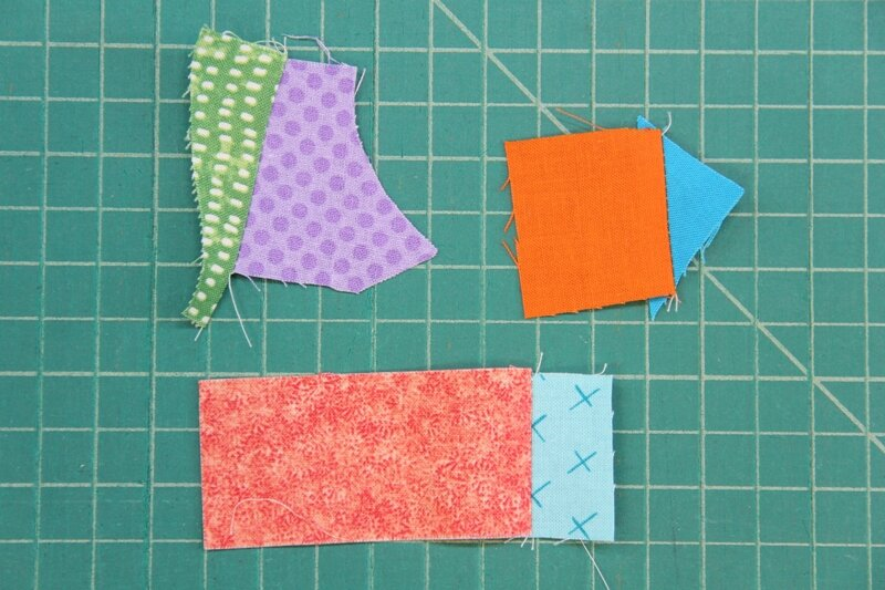 Fabric pieces sewn into pairs