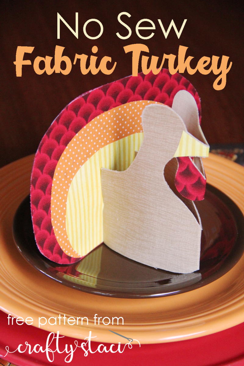 从Crafty Staci #thanksgivingdecor #thanksgivingtable #turkeycraft缝制面料站立土耳其