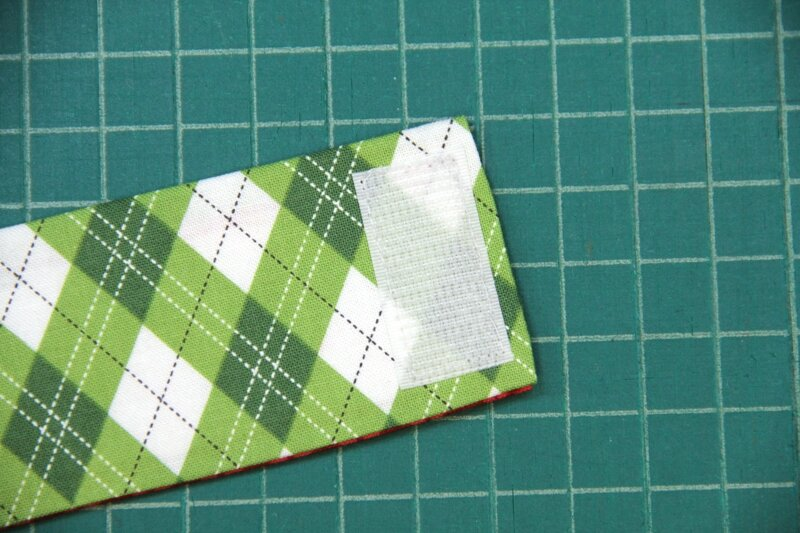 Sew on first Velcro strip