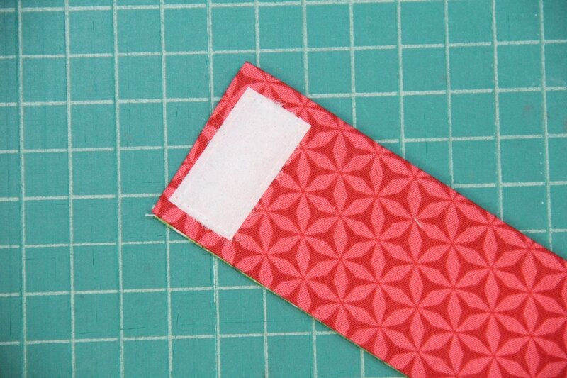 Sew on second Velcro strip