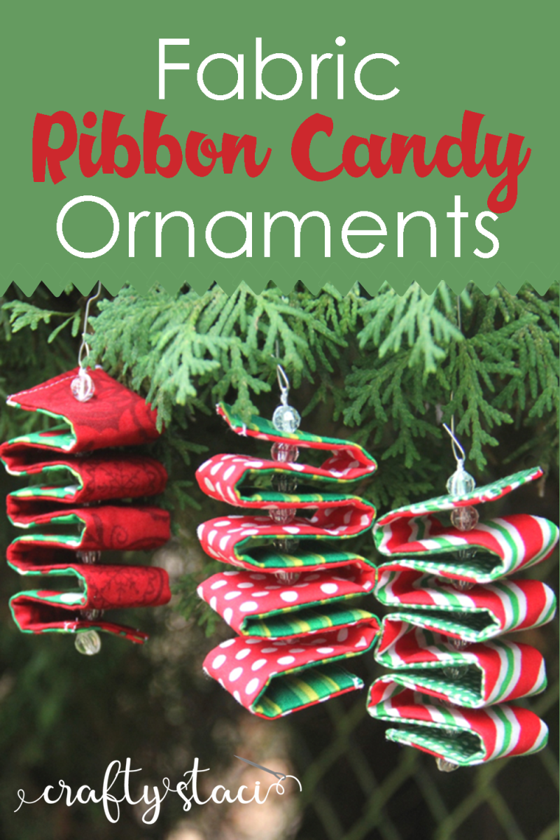 狡猾的Staci织物丝带糖果饰品#diyornaments #christmasornaments #holidayornaments #ribboncandy