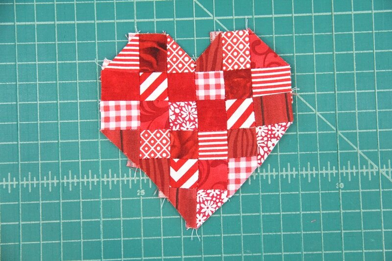 Red and white gingham and stripe Bunting Single sided 12M