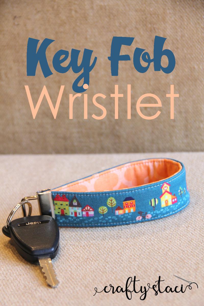 Key Wristlet Key Fob Coffee Key Ring
