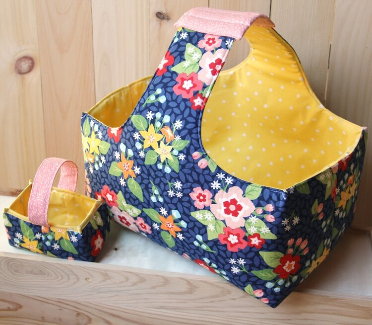 Fabric Baskets in 2 Sizes - Free Sewing Pattern