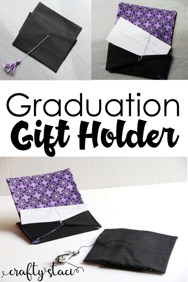 来自Crafty Staci的毕业礼物袋#graduationgift #graduationcap #gradgift