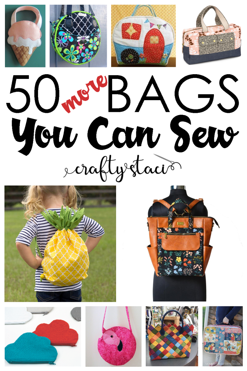 50 More Bag Patterns You Can Sew Crafty Staci