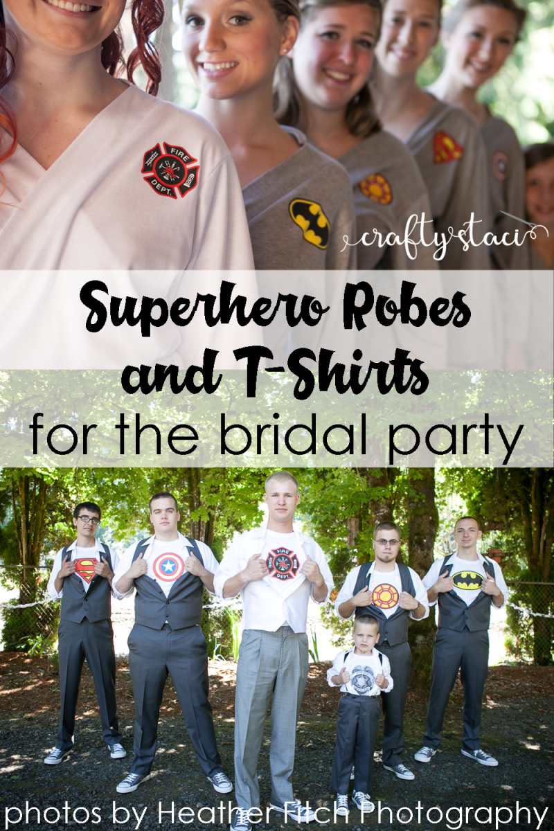 Diy Superhero Shirts And Robes For The Bridal Party Crafty Staci
