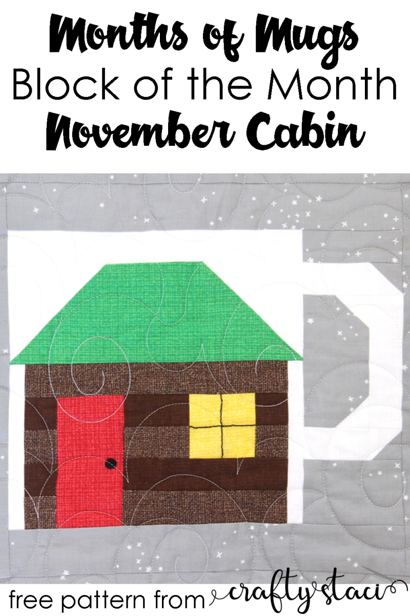 月份的月份探球网-11月的机舱作者Crafty Staci #BOM#月份#blockofthemonth #monthsofmugs #calendarquilt #quiltblock