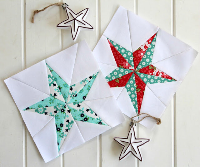 来自Threadbare Creations的Star Quilt Block