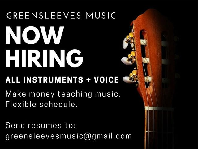 Tag a job-seeker 🎵 We're looking for music teachers to work in #chestercounty and the #mainline. Thanks! #westchesteruniversity #westchester #westchesterpa #udel #universityofdelaware #boyercollegeofmusicanddance #artsatwcu #immaculatauniversity #templeuniversity #musicteacher #musicteacherlife #greensleevesmusic #kennettsquare #jobsearch #nowhiring #teamsleeves