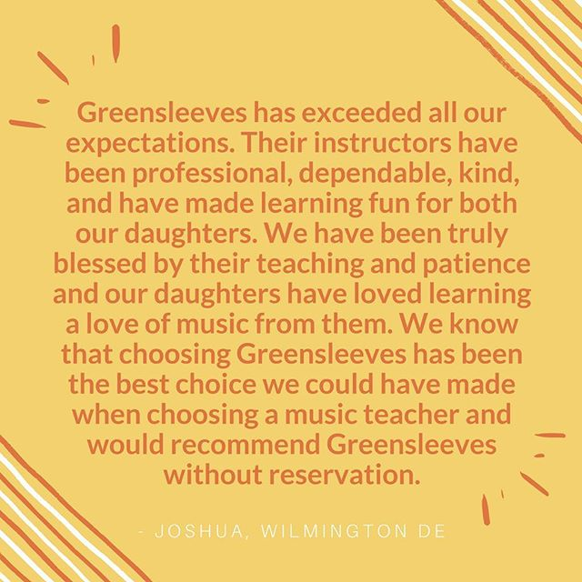 Happy clients make us happy! 🌞 #musiclessons #greensleevesmusic #musiclessonsforkids #musiclessonschestercounty #teamsleeves #westchesterpa #kennettsquare #mainlinekids #phillykids
