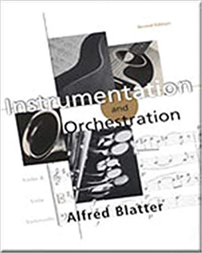 Instrumentation and Orchestration by Alfred Blatter