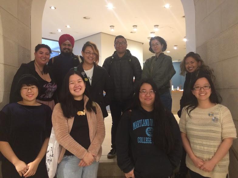 Our participants! Clockwise from top left:  Margaret Huey ,  Jasjyot Singh Hans ,  Mallory Yu ,  Derrick Quevedo ,  June Culp ,  Steph Hsu ,  Jade F. Lee ,  Michelle Lu ,  Ann Xu ,  Sunmi  (not pictured:  Maria Victa ,  BARS (Baltimore Asian Resistance in Solidarity) )