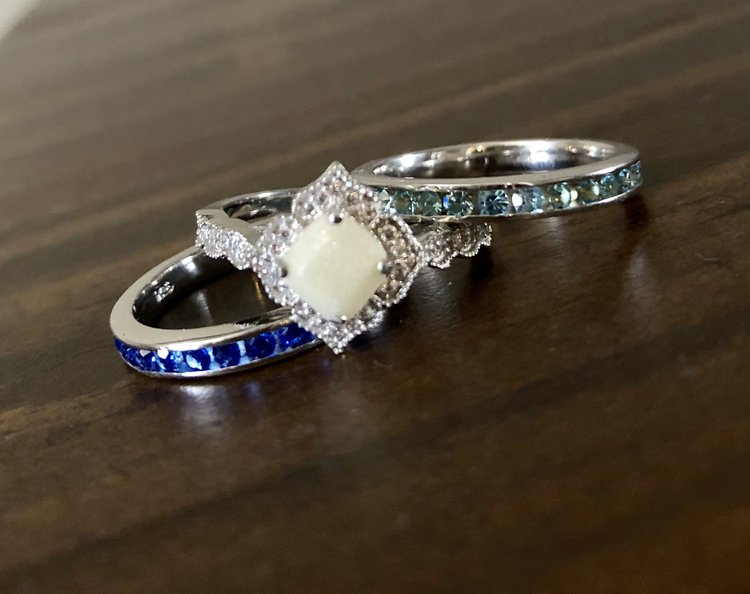 07f781f8eed5f Birthstone band stackable rings — Made With Love Keepsakes