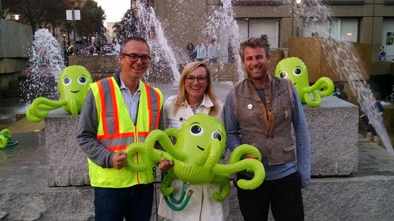 UN Plaza Fountain Hack: Octopus Garden