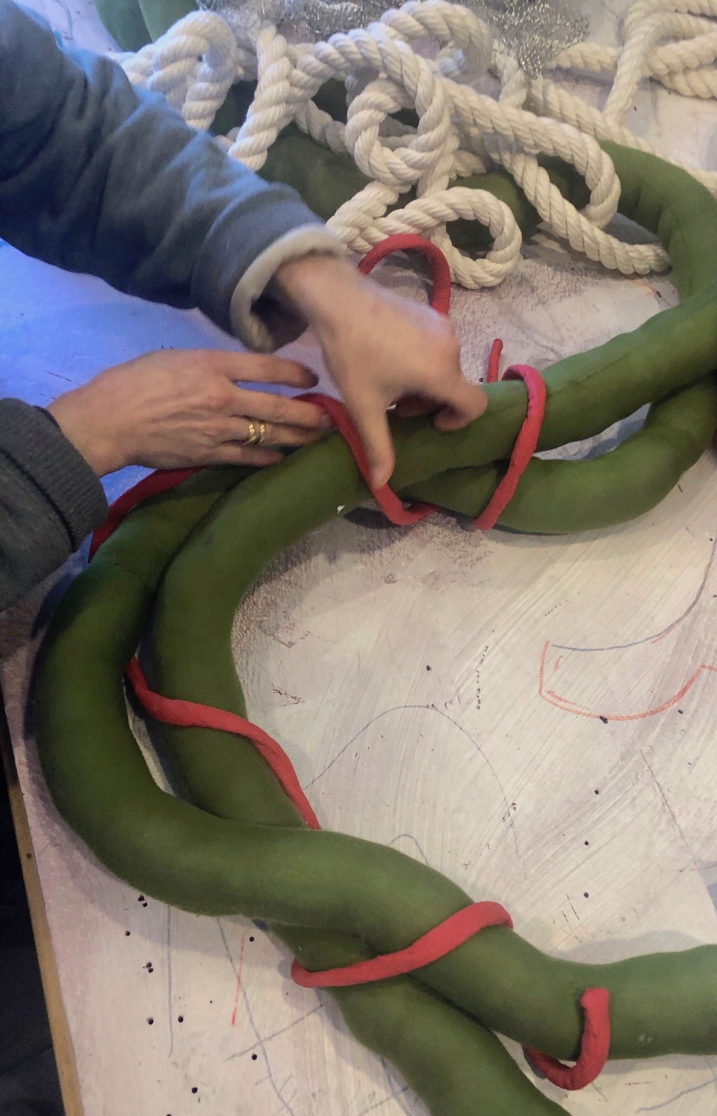 Putting the new coil into 3 dimensions, using a stuffed seamed form.