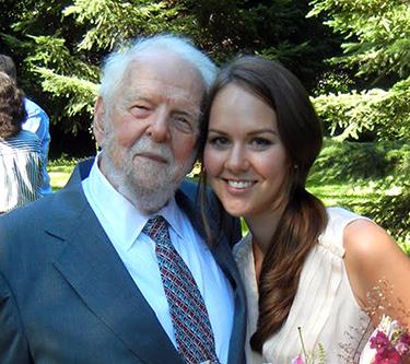 Elizabeth Barnes and her grandfather, William Franklin Barnes, 2011