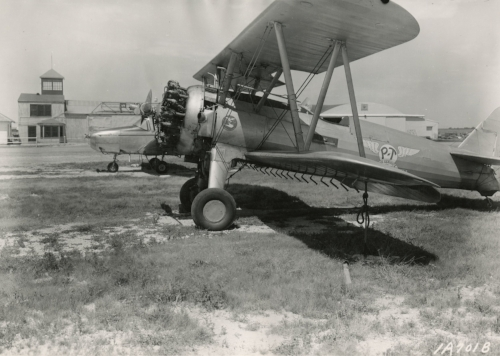 Spray planes in Donald Pratt's P-T Air Service fleet. Pratt became well-known for his aerial and chemical training schools for Great Plains Ag pilots. Courtesy of Morse Department of Special Collections and University Archives, Kansas State University.
