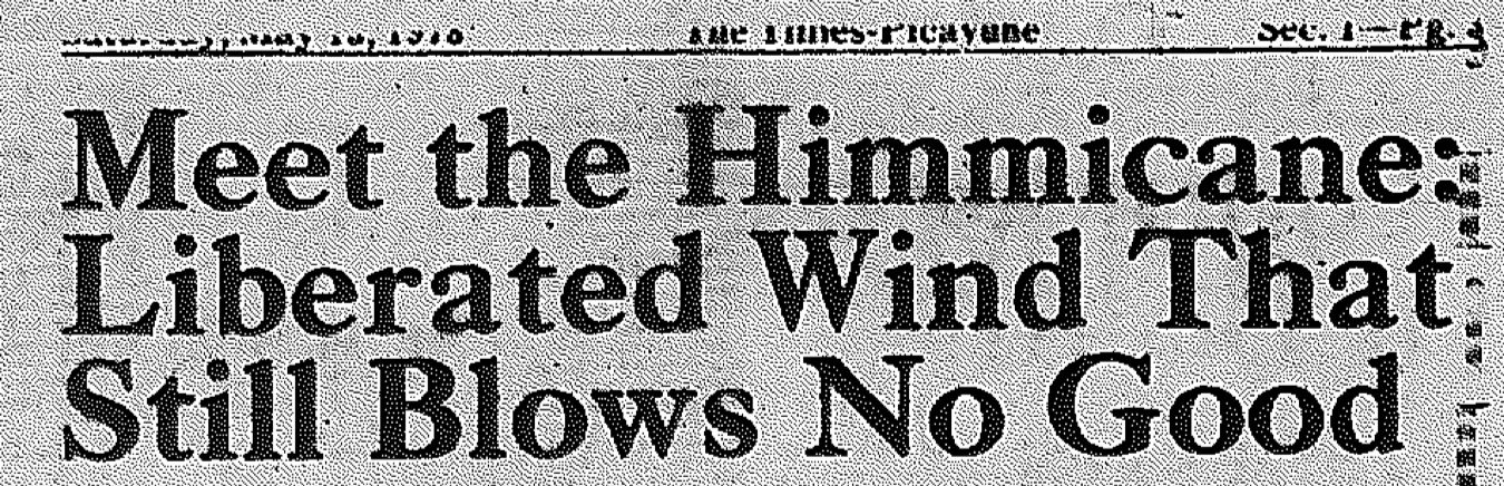 Headline from the New Orleans  Times-Picayune , May 13, 1978.