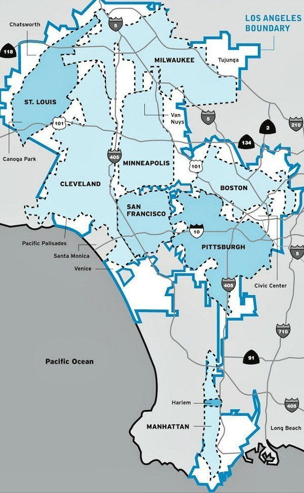 how-big-is-los-angeles-map