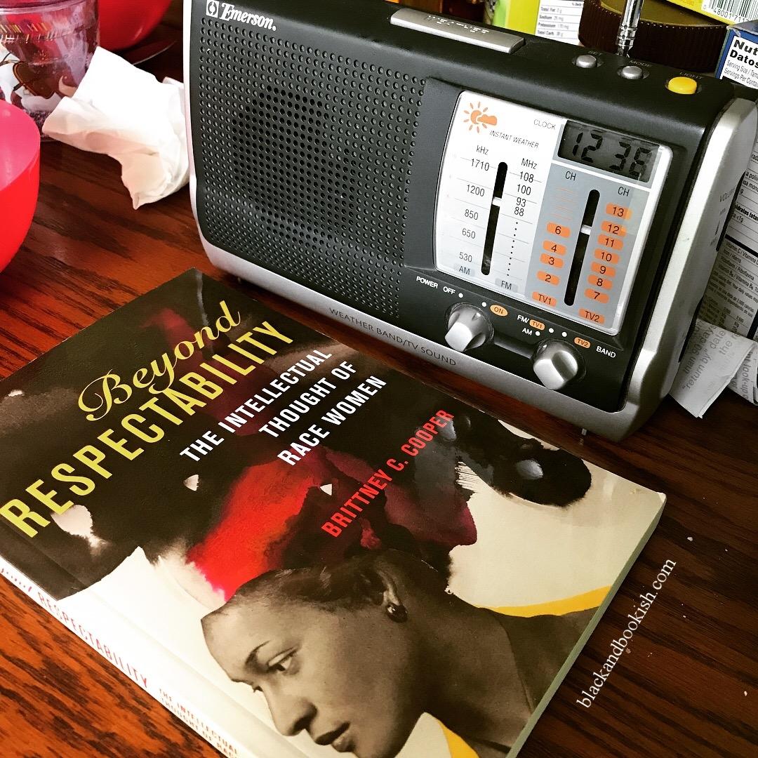 Reading with my weather radio