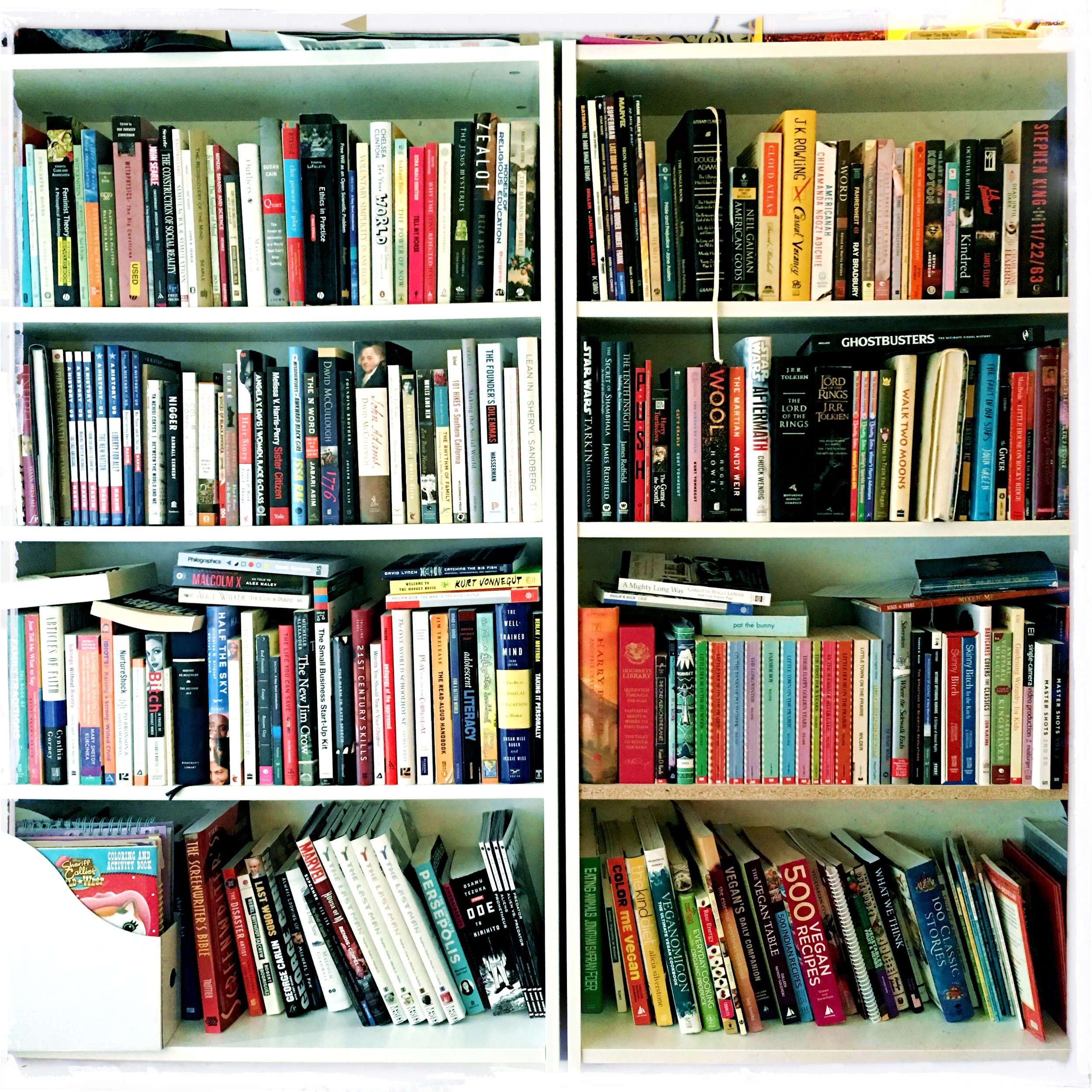 Part of my collection before I started Black & Bookish