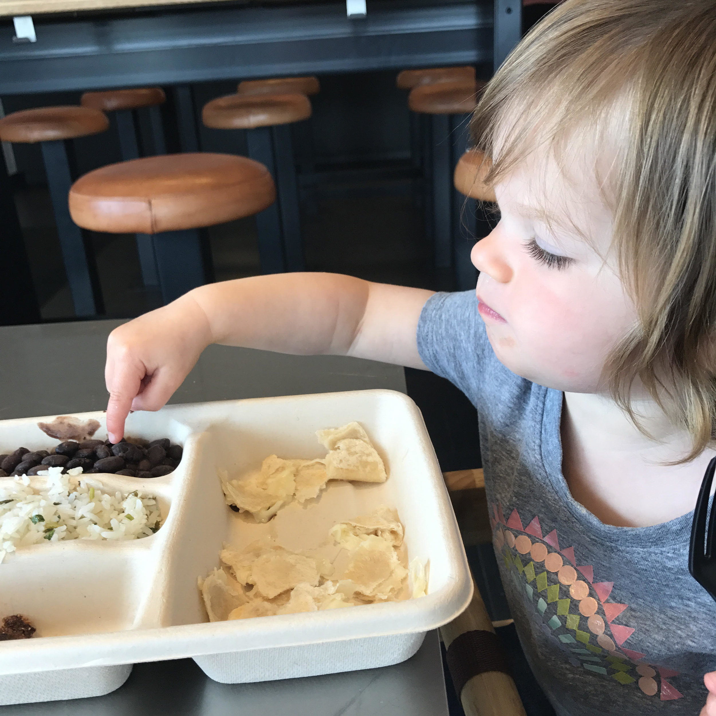 One thing I know Ava will always eat... Chipotle!