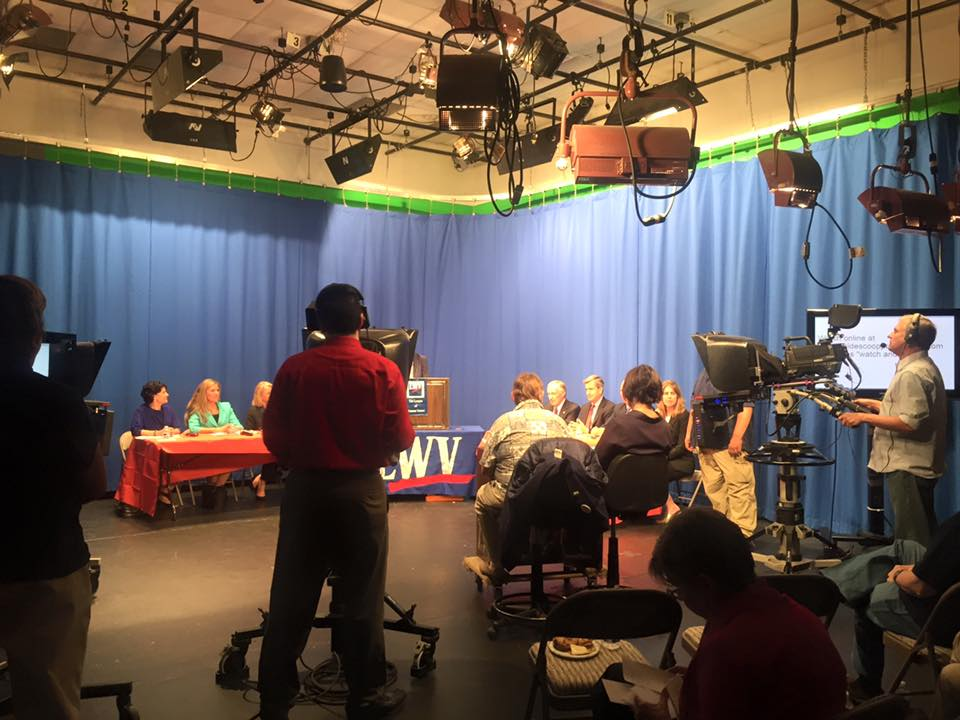 FCPS High School Student Volunteers participated at Fairfax Public Access.  The Candidate Forum was televised live at the Fairfax Public Access TV station on Inside Scoop,