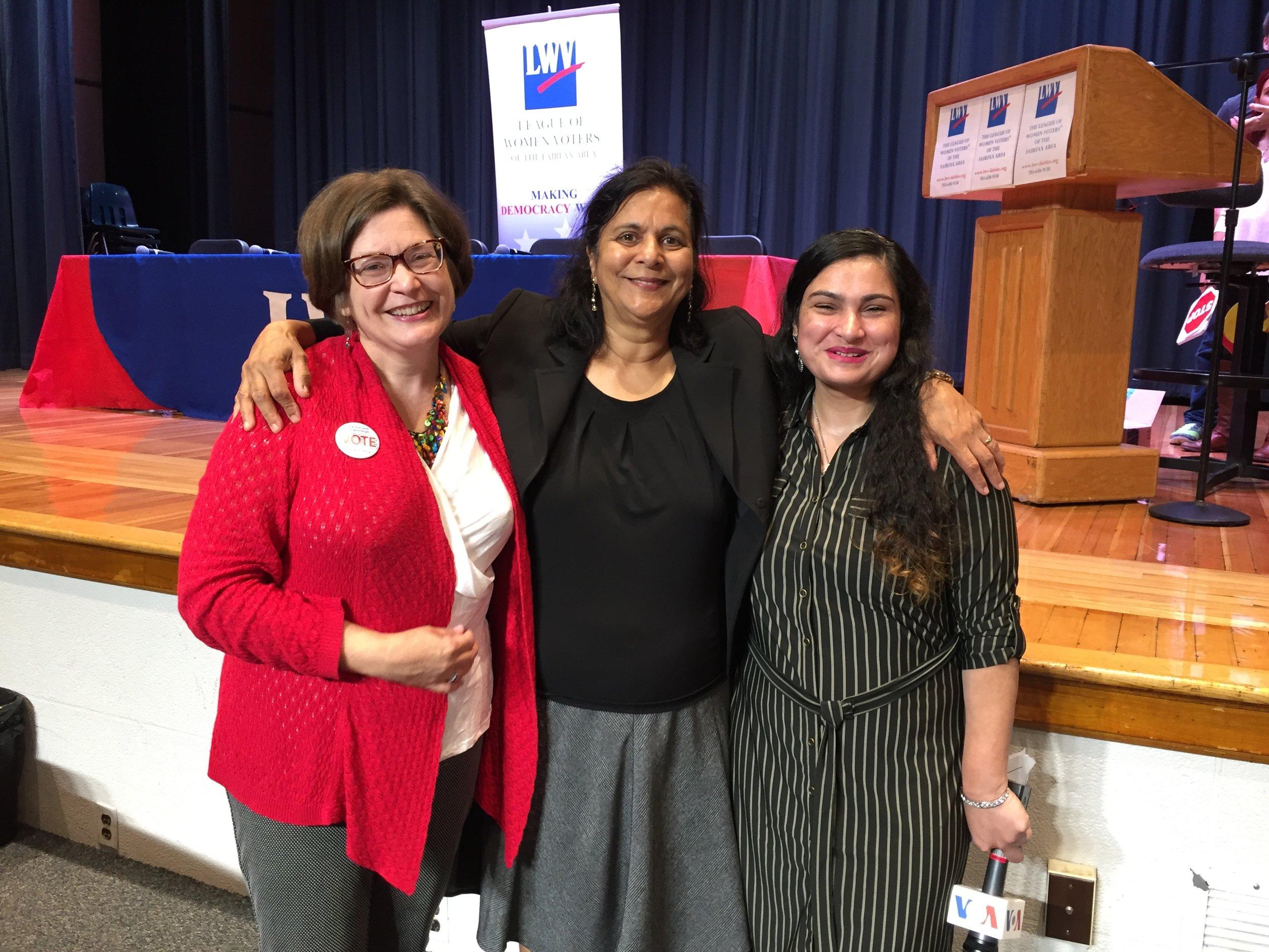 Beth tudan, LWV of Fairfax Executive Director, and adarsh trehan, discuss our work and history with Nilofar mugha, VOA Pakistan Reporter.