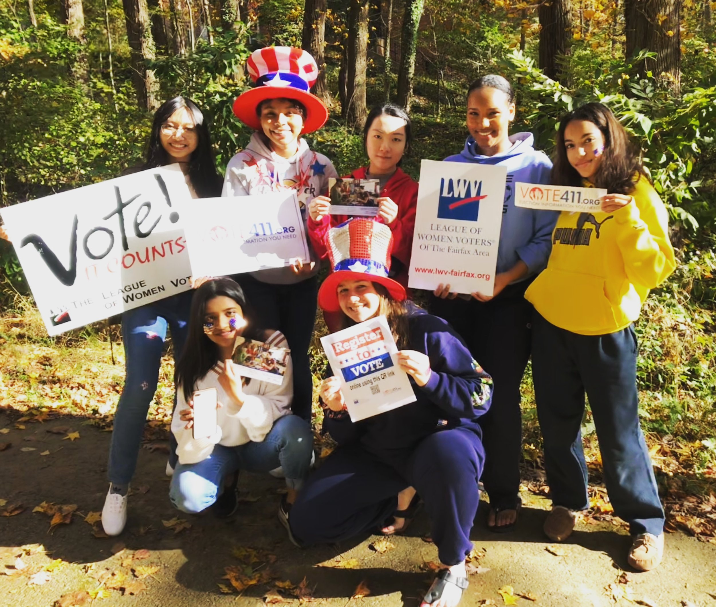 Hayfield Students at LWV park.jpg