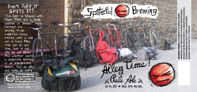 One of several of the Bike Messenger themed beers from Luke & Spiteful