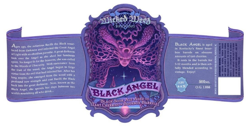 Howell's First Label for Wicked Weed - Black Angel. The Angel series is one of my favorites from WW.